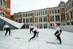 June 28, 2017 - London, London, UK - London, UK. Julie Cunningham & Company dancers perform in The Sackler Courtyard as part of the new V & A Exhibition Road Quarter. (Credit Image: © Ray Tang/London News Pictures via ZUMA Wire)