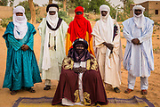 The Sultan of the Air region in northern Niger, which includes the city of Agadez, surrounded by his entourage. The Sultanate of Agadez, also known as Tenere Sultanate of Air was a Berber kingdom centered in the city of Agadez in the Aïr Mountains, located at the southern edge of the Sahara Desert in north central Niger. It was founded in 1449 by the Tuareg. The kingdom was later conquered by the Songhai Empire in 1500. After the defeat of Songhai in 1591, the sultanate regained its independence. It experienced a steep decline in population and economic activity during the 17th century. The kingdom was later conquered by the French in 1900. .