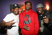 l to r: Talib Kweli, David Banner and Corey Smith at The Sony HipHop Live Tour featuring Talib Kweli and David Banner held at The Nokia Theater on October 25, 2008 in NYC