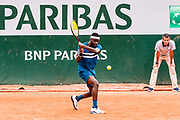 Frances Tiafoe (usa) during the Roland Garros French Tennis Open 2018, day 2, on May 28, 2018, at the Roland Garros Stadium in Paris, France - Photo Pierre Charlier / ProSportsImages / DPPI