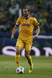 October 31, 2017 - Lisbon, Portugal - Juventus's defender Giorgio Chiellini in action  during Champions League 2017/18 match between Sporting CP vs Juventus FC, in Lisbon, on October 31, 2017. (Credit Image: © Carlos Palma/NurPhoto via ZUMA Press)