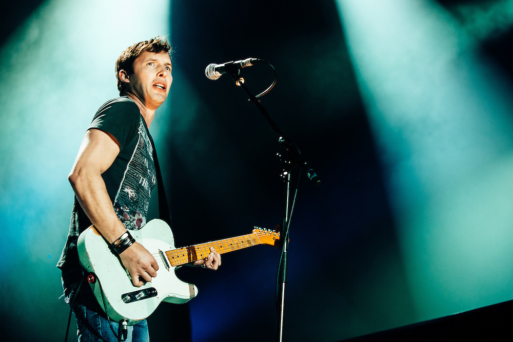 James Blunt performing live at the Rockhal concert venue in Luxembourg, Europe on October 25, 2011