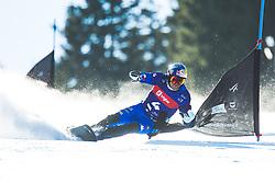 Roland Fischnaller (ITA) during parallel giant slalom FIS Snowboard Alpine world championships 2021 on 1st of March 2021 on Rogla, Slovenia, Slovenia. Photo by Grega Valancic / Sportida