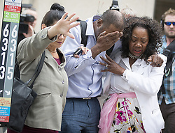 June 16, 2017 - St. Paul,Minnesota, U.S. - Family and friends of Valerie Castile and Philando Castile walk out of the courthouse after Geronimo Yanez was found not guilty on all counts in the shooting death of Philando Castile Friday. (Credit Image: © Elizabeth Flores/TNS via ZUMA Wire)
