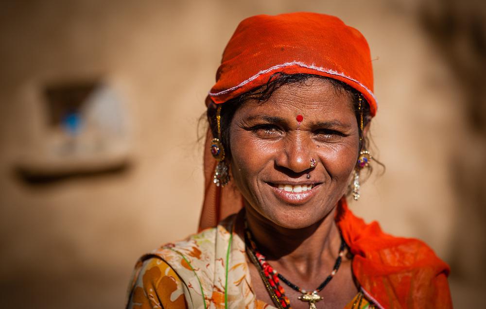 Desert woman portrait (India)