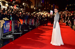 Keira Knightley attending the Colette UK Premiere as part of the BFI London Film Festival at the Cineworld Leicester Square, London.