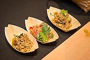 TOMATO, Solanum lycopersicum Showcase: 'S276' Indigo breeding line<br />Breeder: Jim Myers, Oregon State University<br />Chef: Jason French, Ned Ludd<br />Dish: Salad of tomato juice soaked red bulgur wheat, parsley lemon juice, and fresh tomatoes