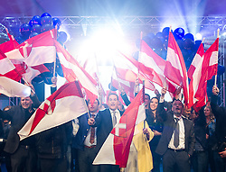 11.10.2015, FPÖ Festzelt, Wien, AUT, Wien-Wahl 2015, im Bild Spitzenkandidat Heinz-Christian Strache // during elcetion to the vienna city council at FPOe tent in Vienna, Austria on 2015/10/11, EXPA Pictures © 2015, PhotoCredit: EXPA/ Michael Gruber