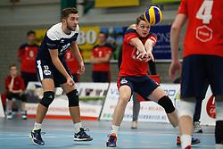 20181124 NED: Volleyball Top League ZVH - VCV: Zevenhuizen<br />Mika Prins (13) of CAS CRM ZVH, Thomas van Rij (12) of CAS CRM ZVH<br />©2018-FotoHoogendoorn.nl / Pim Waslander