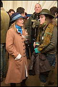 AMANDA AMIES; NICOLE ORR-EWING, The Heythrop Hunt Point to Point. Cockle barrow. 25 January 2015