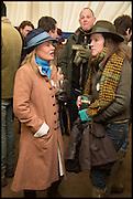 AMANDA AMIES; NICOLE ORR-EWING, The Heythrop Hunt Point to Point. Cockle barrow. 25 January 2015