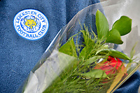 Football - 2018 / 2019 Premier League - Cardiff City vs. Leicester City<br /> <br /> Leicester City fan with rose, in  tribute to Vichai Srivaddhanaprabha, in Leicster's 1st match since the death of Vichai Srivaddhanaprabha, at Cardiff City Stadium.<br /> <br /> COLORSPORT/WINSTON BYNORTH