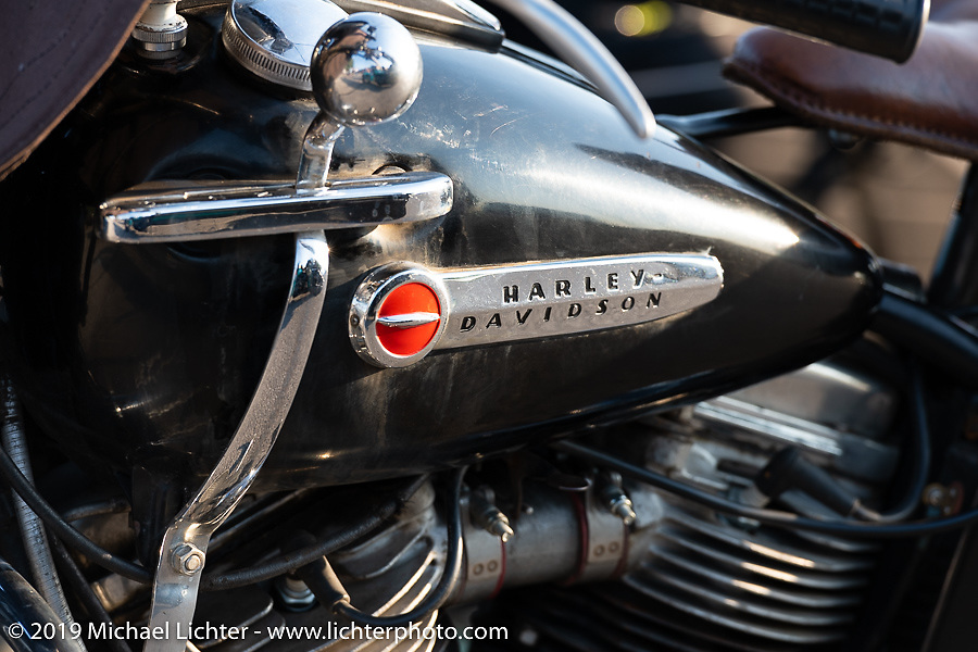 Willie Earhart's 1948 Harley-Davidson Panhead during the Cross Country Chase motorcycle endurance run from Sault Sainte Marie, MI to Key West, FL (for vintage bikes from 1930-1948). Stage 4 saw a 315 mile ride from Urbana, IL to Bowling Green, KY USA. Monday, September 9, 2019. Photography ©2019 Michael Lichter.