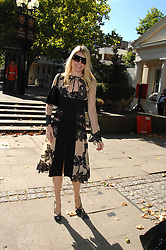 MEREDITH OSTROM at the memorial service of Isabella Blow held at the Guards Chapel, London W1 on 18th September 2007.<br />
