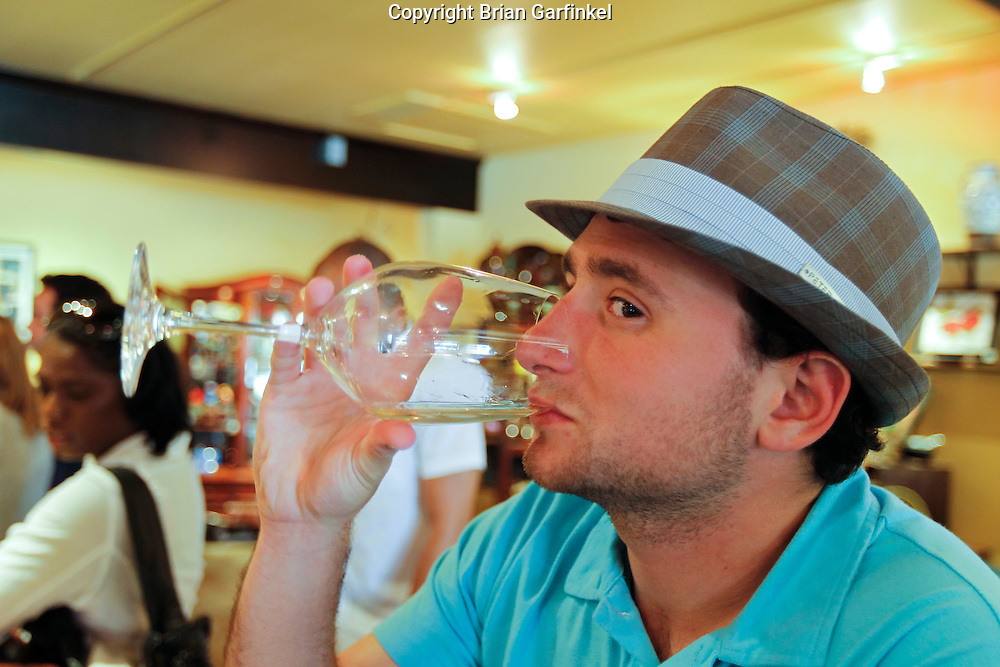 Joel tastes a wine in Solvang, Santa Barbara County on Monday, May 10th, 2011.