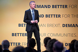 © Licensed to London News Pictures. 18/09/2018. Brighton, UK.  WILLIE RENNIE, leader of the Scottish Liberal Democrats, speaking on the final day of the Liberal Democrat Autumn Conference in Brighton, East Sussex on September 18, 2018. This years event has been mainly focused around Brexit, the UK's departure from the EU. Photo credit: Ben Cawthra/LNP