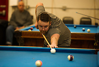 Robbie Mills memorial 8-Ball Tournament at the Rod and Gun in Laconia.    ©2019 Karen Bobotas Photographer