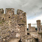 Conwy Castle is a medieval castle built by Edward I in the late 13th century. It forms part of a walled town of Conwy and occupies a strategic point on the River Conwy. It is listed as a World Heritage Site.