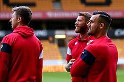 Bailey Wright of Bristol City and teammates arrive at Molineux for the Sky Bet Championship fixture with Wolverhampton Wanderers - Mandatory by-line: Robbie Stephenson/JMP - 12/09/2017 - FOOTBALL - Molineux - Wolverhampton, England - Wolverhampton Wanderers v Bristol City - Sky Bet Championship