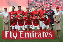 August 25, 2018 - Lisbon, Portugal - Benfica's starter team before the Portuguese League football match SL Benfica vs Sporting CP at the Luz stadium in Lisbon on August 25, 2018. (Credit Image: © Pedro Fiuza/NurPhoto via ZUMA Press)