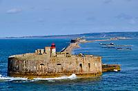 France, Manche (50), Cherbourg-Octeville, la rade de Cherbourg, Le Fort de l'Ouest // France, Normandy, Manche department, Cherbourg-Octeville, Cherbourg harbor