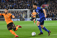 Football - 2017 / 2018 Sky Bet Championship - Cardiff City vs. Wolverhampton Wanderers<br /> <br /> Yanic Wildschut  of Cardiff City attacks Matt Doherty ofWolverhampton Wanderers, at Cardiff City Stadium.<br /> <br /> COLORSPORT/WINSTON BYNORTH