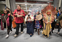 10 December 2019, Madrid, Spain: A group of indigenous leaders set out to deliver a climate letter to the COP25 presidency, demanding that indigenous voices be heard in climate process at COP25 in Madrid.