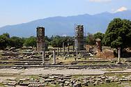 Restoration underway  in Philippi near  Kavalla, Greece. <br /><br />Photo by Dennis Brack