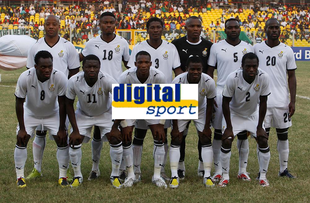 Photo: Steve Bond/Richard Lane Photography.<br />Ghana v Morocco. Africa Cup of Nations. 28/01/2008. Ghana line up