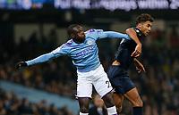 Football - 2019 / 2020 Premier League - Manchester City vs. Everton<br /> <br /> Benjamin Mendy of Manchester City challenges Dominic Calvert-Lewin of Everton, at The Etihad Stadium.<br /> <br /> COLORSPORT/ALAN MARTIN