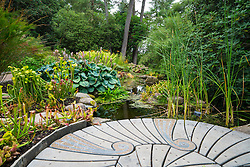 Garden and pond at Inverewe Garden , Wester Ross, Scotland United Kingdom