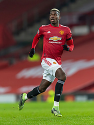 MANCHESTER, ENGLAND - Friday, January 1, 2020: Manchester United's Paul Pogba during the New Year's Day FA Premier League match between Manchester United FC and Aston Villa FC at Old Trafford. The game was played behind closed doors due to the UK government putting Greater Manchester in Tier 4: Stay at Home during the Coronavirus COVID-19 Pandemic. (Pic by David Rawcliffe/Propaganda)