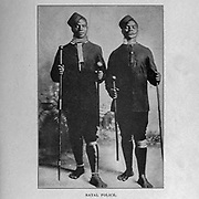 barefooted Natal Police from the book ' Boer and Britisher in South Africa; a history of the Boer-British war and the wars for United South Africa, together with biographies of the great men who made the history of South Africa ' By Neville, John Ormond Published by Thompson & Thomas, Chicago, USA in 1900
