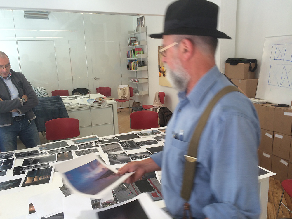 Larry Towell at the Contact Book Making workshop 2015