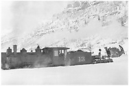 """RGS 2-8-0 #13 with flanger #01.<br /> RGS  Pandora, CO  <br /> In book """"RGS Story, The Vol II: Telluride, Pandora and the Mines Above"""" page 284<br /> See RD 155-065 for original."""