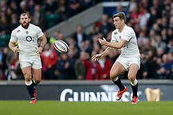 England Fly-Half George Ford in action - Photo mandatory by-line: Rogan Thomson/JMP - 07966 386802 - 14/02/2015 - SPORT - RUGBY UNION - London, England - Twickenham Stadium - England v Italy - 2015 RBS Six Nations Championship.
