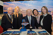 234/1/20 American Ambassador Edward F Crawford visiting the Visit USA stands at the Holiday World Show at the RDS Simmonscourt in Dublin. Picture: Arthur Carron.