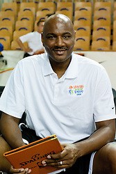 Michael Curry, Philadelphia 76ers Head Coach, at Basketball Without Borders for prospects under 17 with best coaches and some NBA legends on August 8, 2011, in Hala Tivoli, Ljubljana, Slovenia. (Photo by Matic Klansek Velej / Sportida)