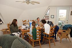 Earthwatchers In Kitchen - Melissa, Jemima & Katie