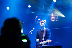 © London News Pictures. 24/08/2012. London, UK. Graham Coxon performing on the Radio One stage on day one of Reading Festival 2012 in Reading, Berkshire, UK on August 24, 2012. The three day event which attracts over 80,000 music fans opens officially today (Friday) and will headline The Cure, Kasabian and The Foo Fighters Photo credit : Ben Cawthra/LNP