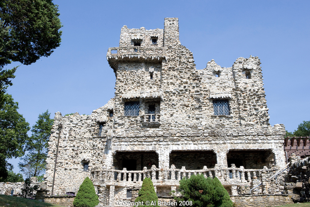 Gillette Castle built by William Gillette, a well known New York actor along the Connecticut River, Hadlyme, CT.