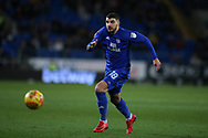 Callum Paterson of Cardiff city in action  .EFL Skybet championship match, Cardiff city v Preston North End at the Cardiff city stadium in Cardiff, South Wales on Friday 29th December 2017.<br /> pic by Andrew Orchard, Andrew Orchard sports photography.