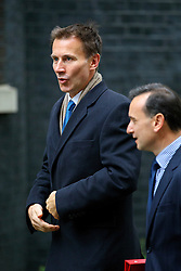 © Licensed to London News Pictures. 18/10/2016. London, UK. Health Secretary JEREMY HUNT attends a cabinet meeting in Downing Street on Tuesday, 18 October 2016. Photo credit: Tolga Akmen/LNP
