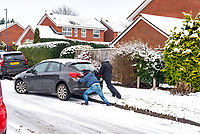 Car stuck during the fist lockdown of the year enjoying the the first settled snow in stratford upon Avon in probably 3 years  Photo by Mark Anton Smith
