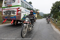 Mohamad Khurshid on day-9 of our Himalayan Heroes adventure riding from Pokhara to Nuwakot, Nepal. Wednesday, November 14, 2018. Photography ©2018 Michael Lichter.