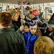 New York City Subway on Halloween