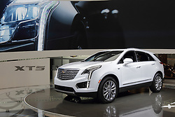 11 February 2016: Cadillac XTS.<br /> <br /> First staged in 1901, the Chicago Auto Show is the largest auto show in North America and has been held more times than any other auto exposition on the continent.  It has been  presented by the Chicago Automobile Trade Association (CATA) since 1935.  It is held at McCormick Place, Chicago Illinois<br /> #CAS16