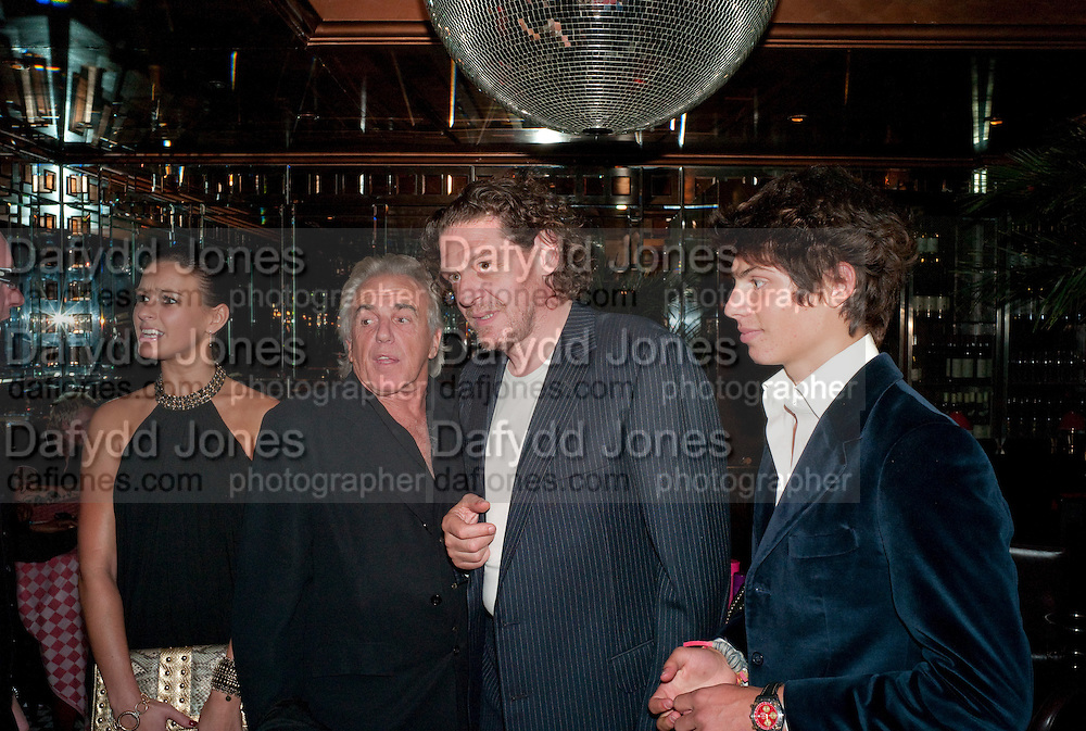 BELLA WRIGHT; ; PETER STRINGFELLOW; MARCO PIERRE WHITE; LUCIANO PIERRE WHITE, , launch of Fabulous Haircare Range, Frankie's Italian Bar and Grill, 3 Yeomans Row, off Brompton Road, London SW3, 7pm