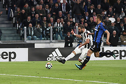 March 14, 2018 - Turin, Italy - Juventus forward Gonzalo Higuain (9) scores his goal during the Serie A football match n.26 JUVENTUS - ATALANTA on 14/03/2018 at the Allianz Stadium in Turin, Italy. (Credit Image: © Matteo Bottanelli/NurPhoto via ZUMA Press)