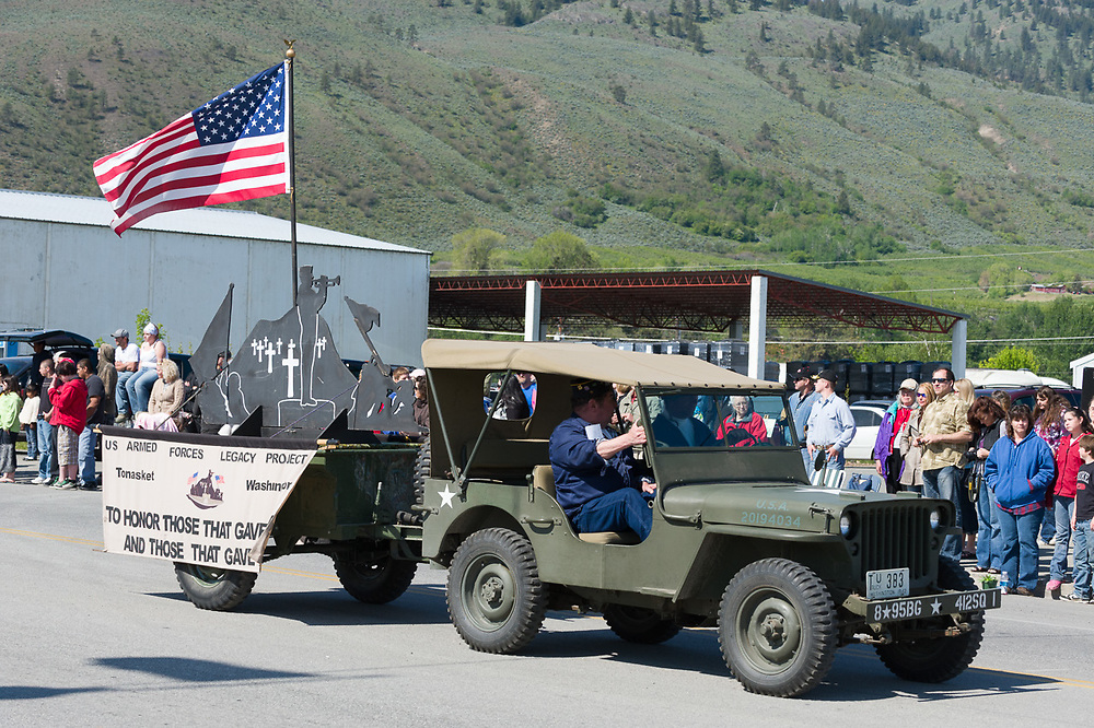 U.S. Armed Forces Legacy Project, Annual May Festival Parade, Oroville, Washington, USA